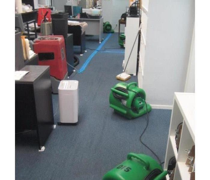 Commercial Office Saved From Water Damage After